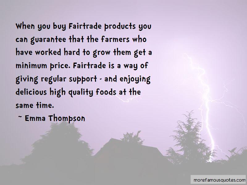Fairtrade Farmers Quotes