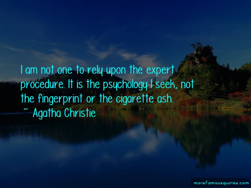 Fingerprint Expert Quotes