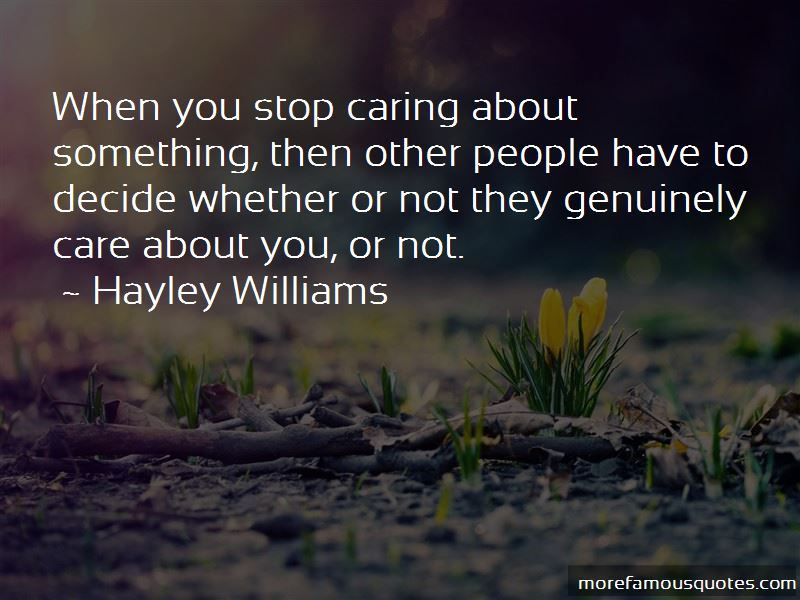 Genuinely Care Quotes