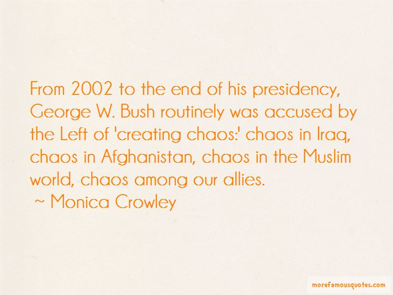 George Bush Afghanistan Quotes
