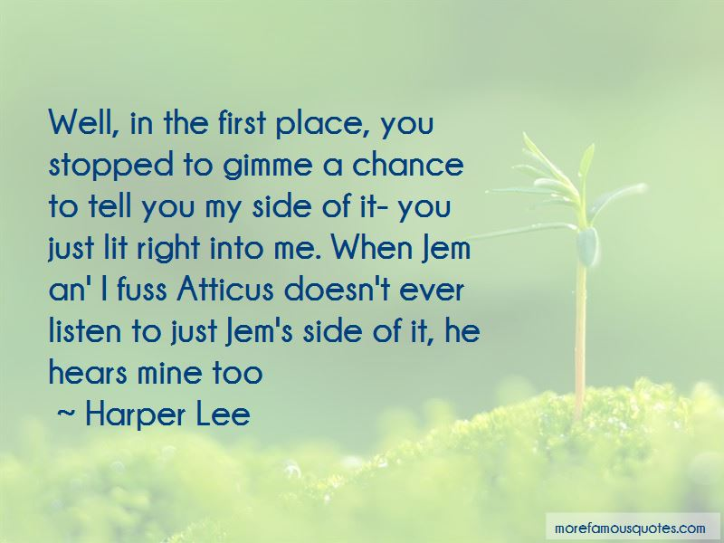 Gimme A Chance Quotes