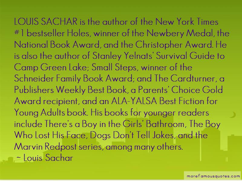 Holes Louis Sachar Stanley Quotes Pictures 2