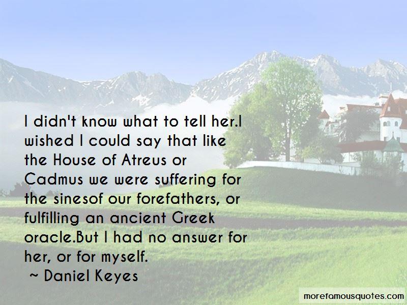 House Of Atreus Quotes