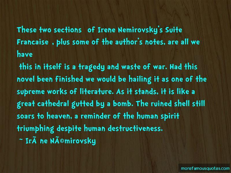 Human Destructiveness Quotes