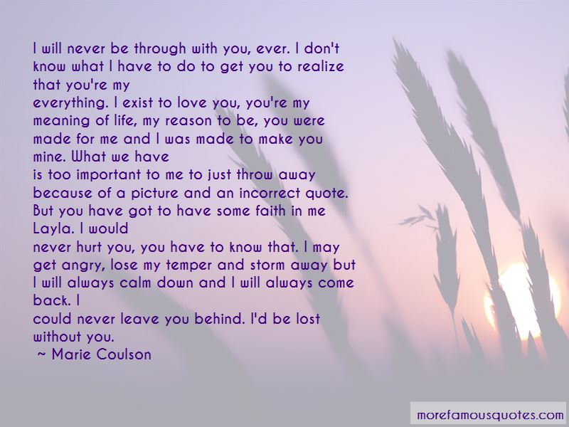 I'd Be Lost Without You Quotes