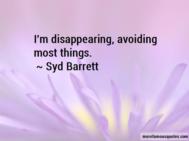 I'm Disappearing Quotes