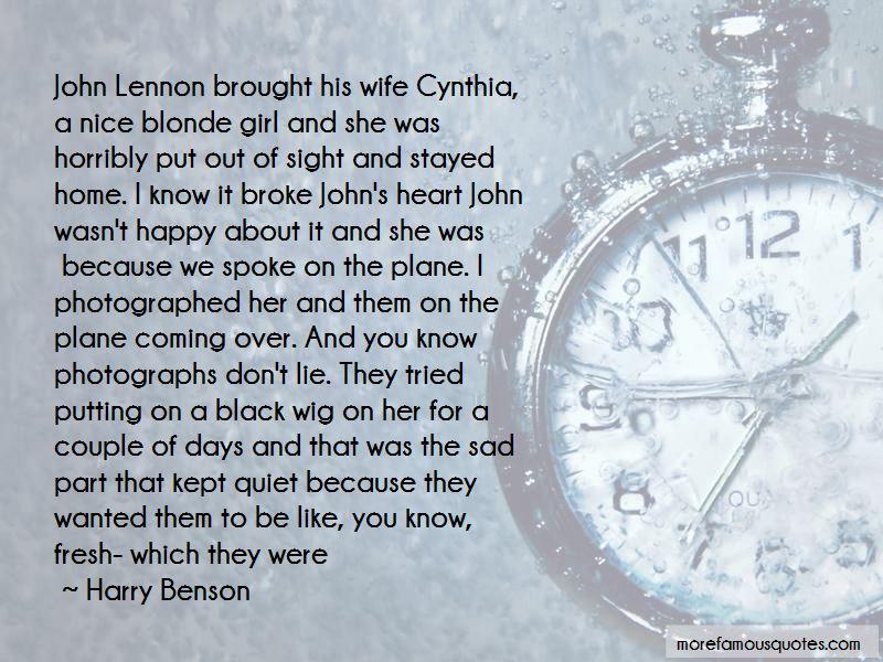 John Lennon Cynthia Quotes