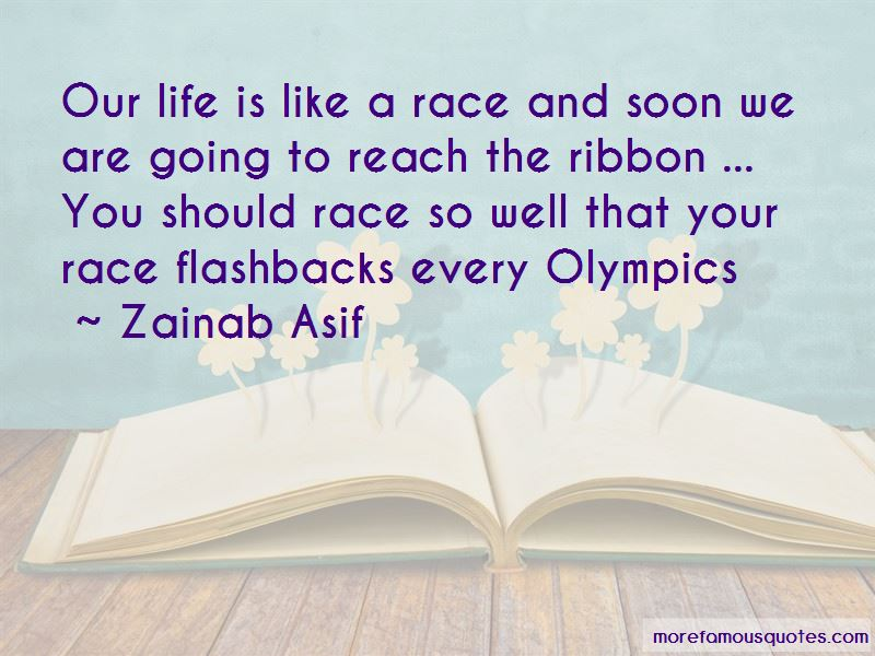 Life Is Like A Race Quotes