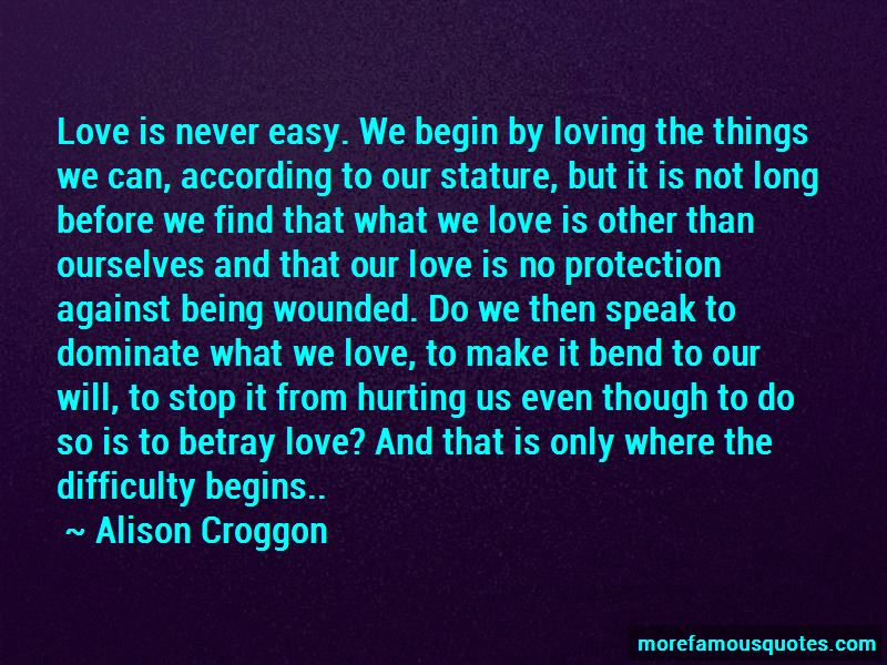 Love Is Never Easy Quotes