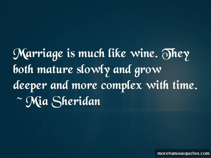 Marriage Like Wine Quotes Pictures 3