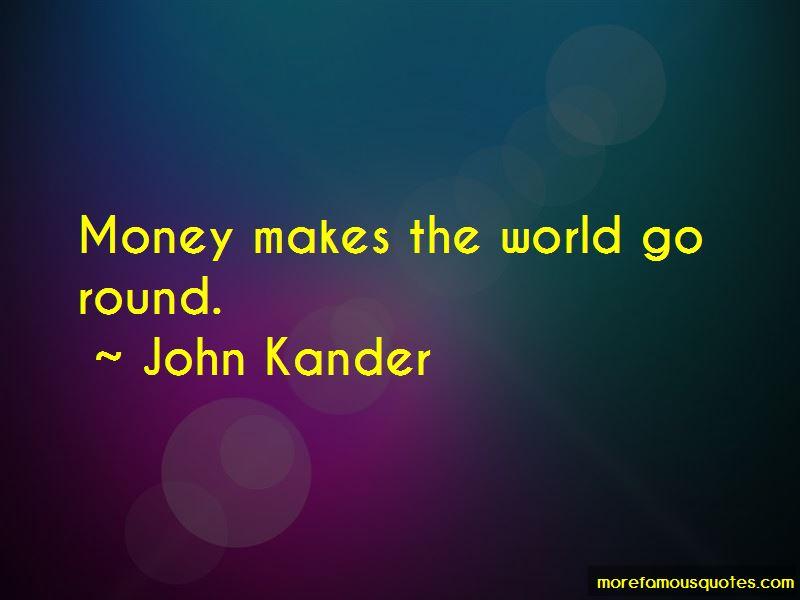 money makes the world go round speech