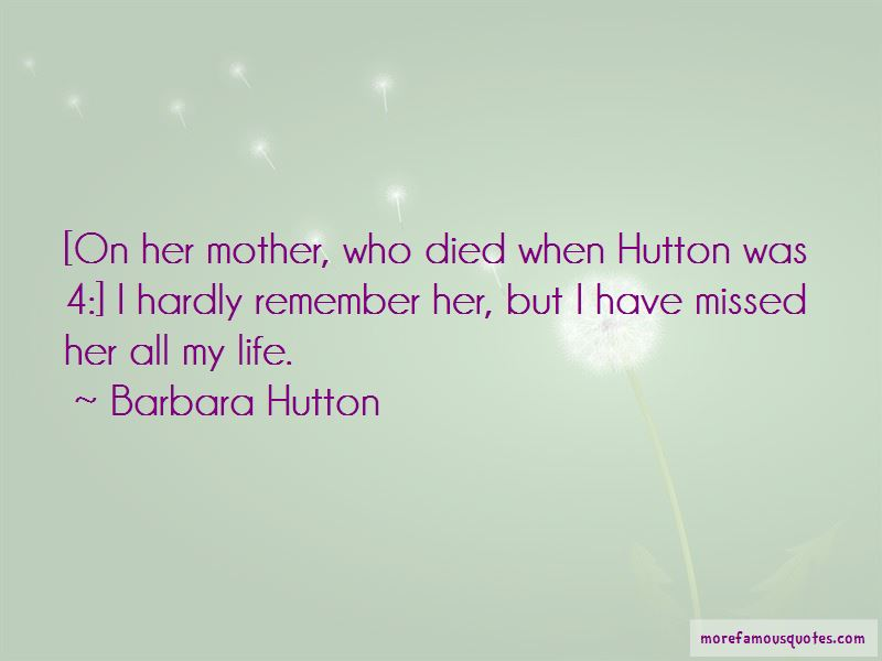Mother Who Died Quotes Top 38 Quotes About Mother Who Died From