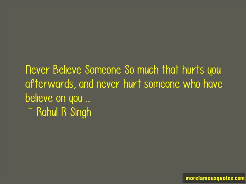 Never Hurt Someone Quotes