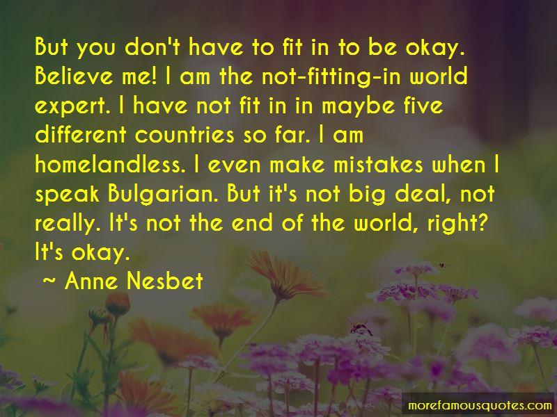Not Big Deal Quotes