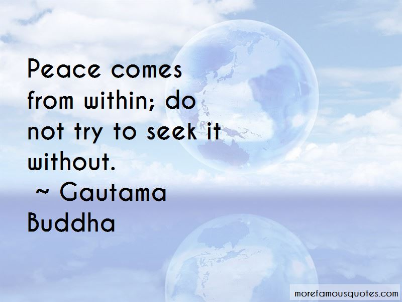 Peace Comes From Within Quotes