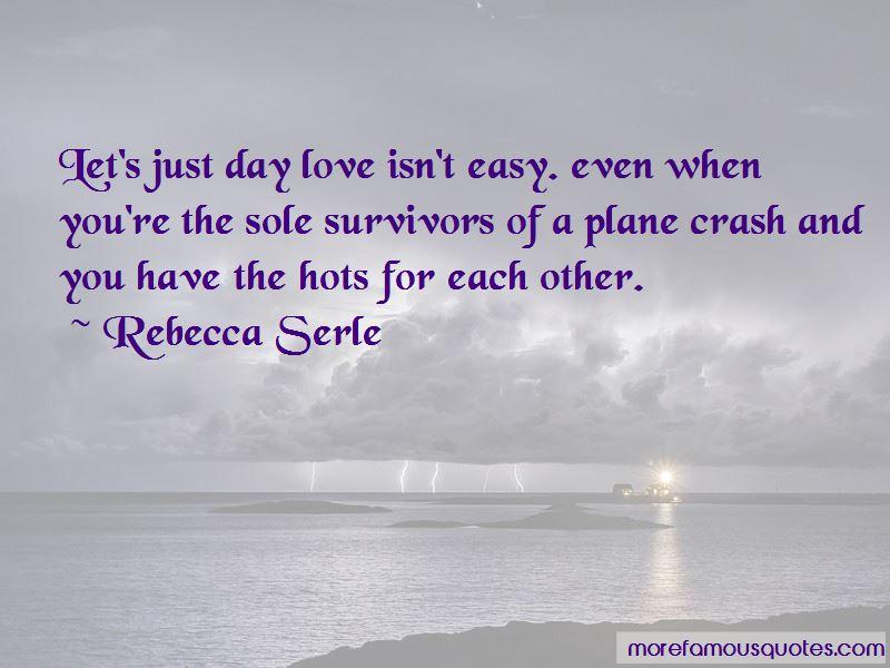 Plane Crash Love Quotes