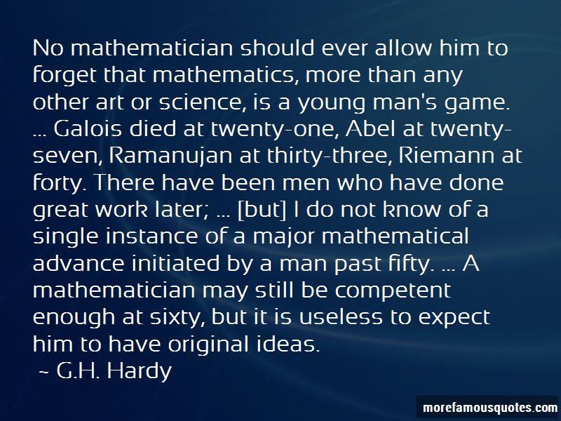 Ramanujan Mathematician Quotes