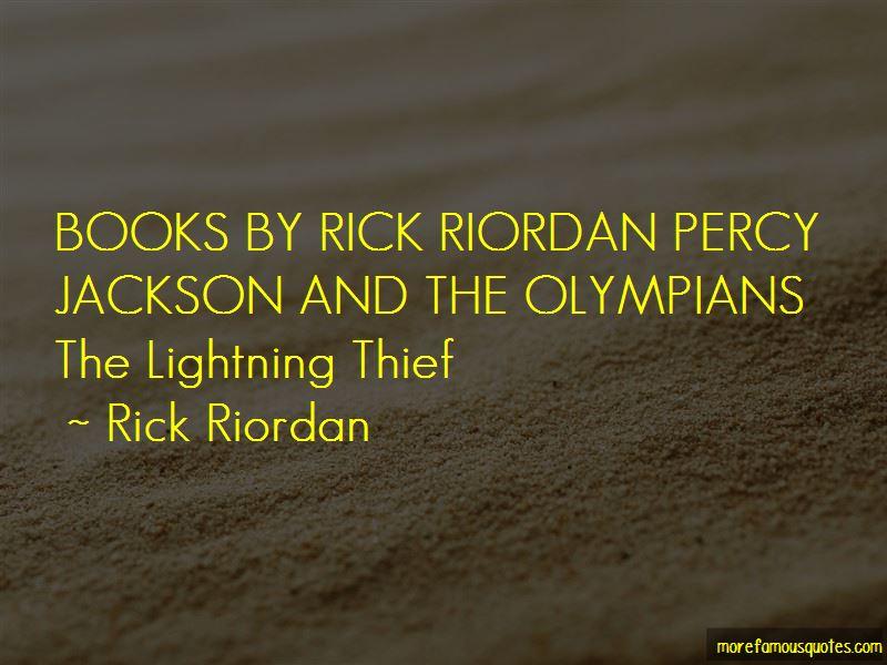 Rick Riordan Lightning Thief Quotes