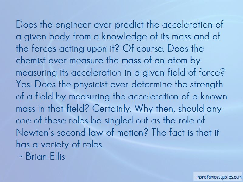 Second Law Of Motion Quotes