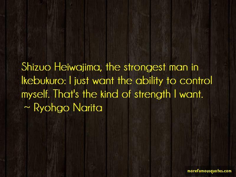 Shizuo Heiwajima Quotes