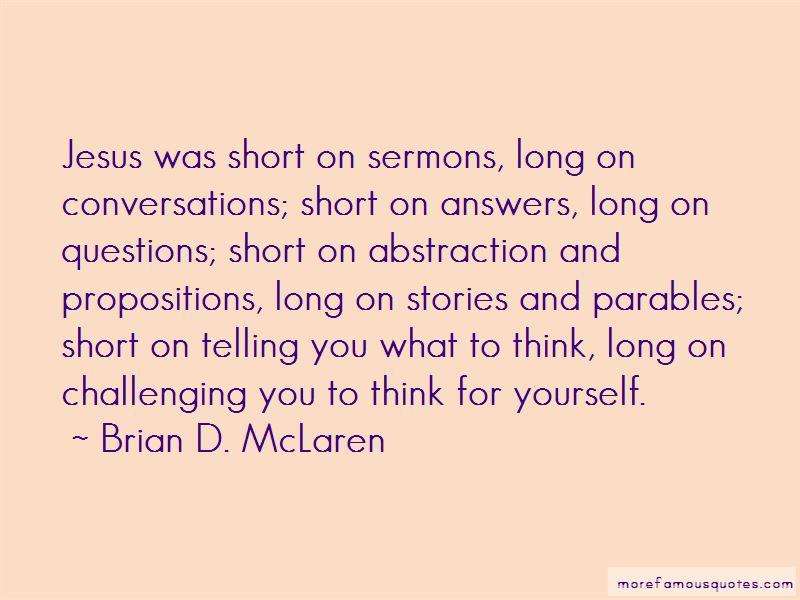 Short Parables Quotes