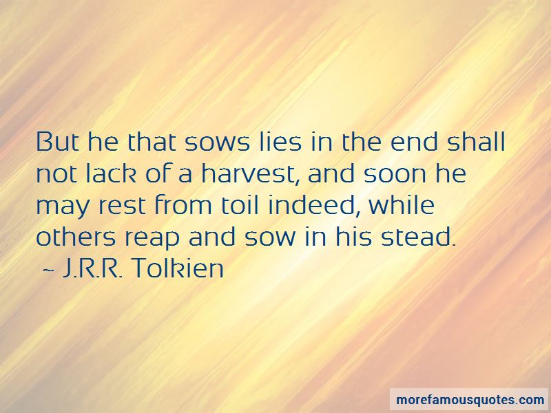 Sow Harvest Quotes