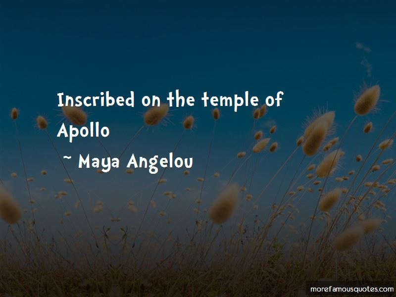 Temple Of Apollo Quotes