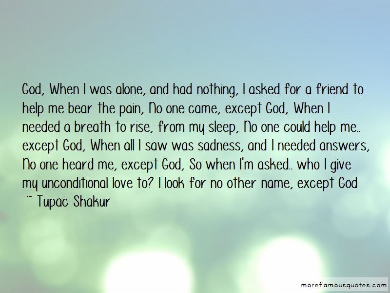 Unconditional Love God Quotes