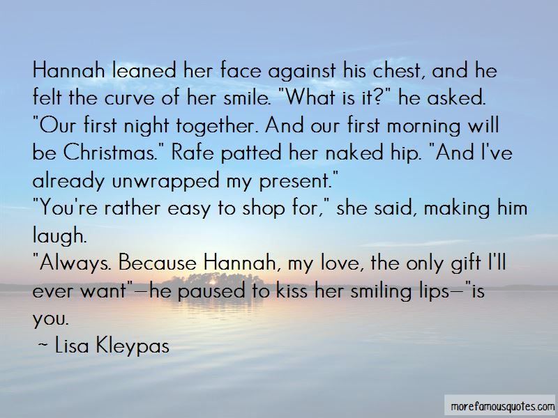 A Christmas Kiss Quotes