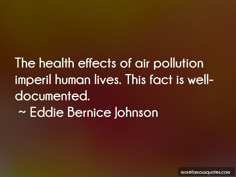 Air Pollution Health Effects Quotes