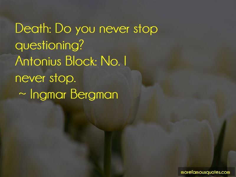 Antonius Block Quotes