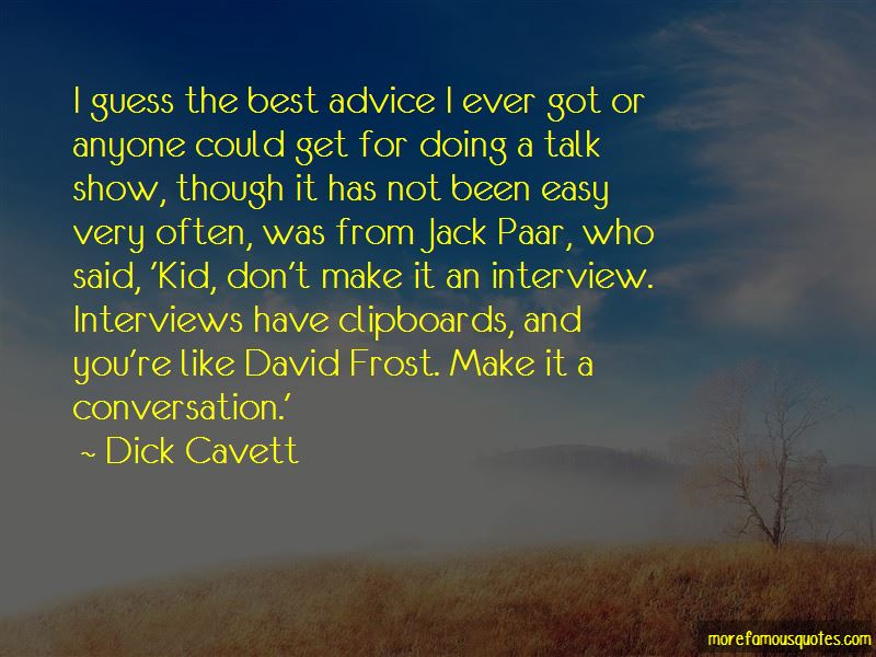 David Frost Interview Quotes