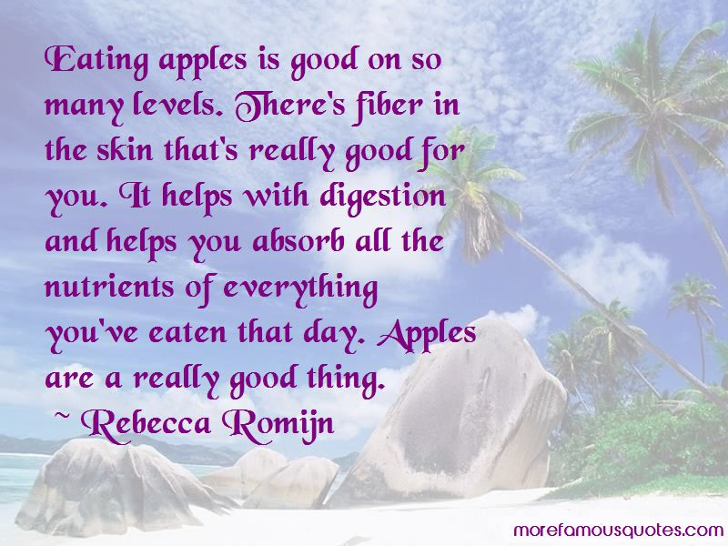 Eating Apples Quotes