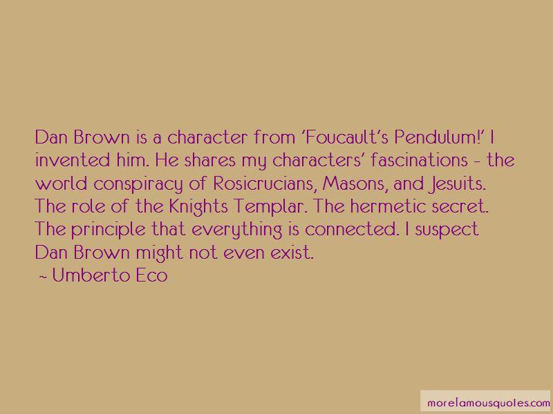 Foucault's Pendulum Quotes