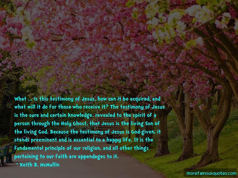 God Testimony Quotes Pictures 4