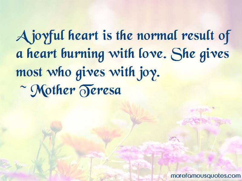 Heart Burning With Love Quotes