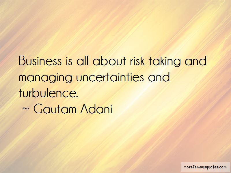 Managing Risk In Business Quotes