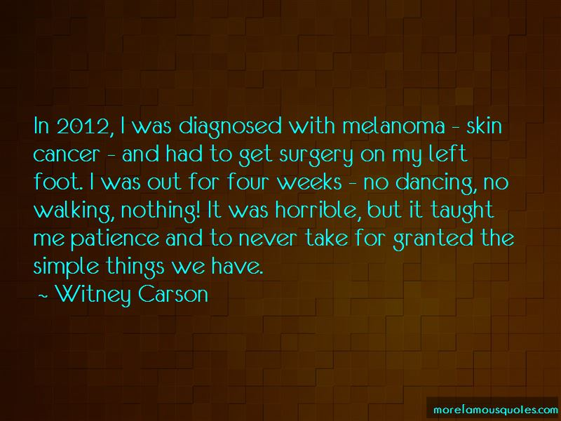 Melanoma Skin Cancer Quotes Top 2 Quotes About Melanoma Skin Cancer From Famous Authors