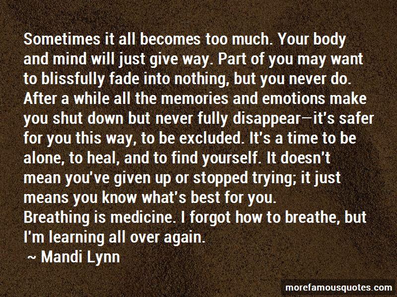 Mind Over Medicine Quotes