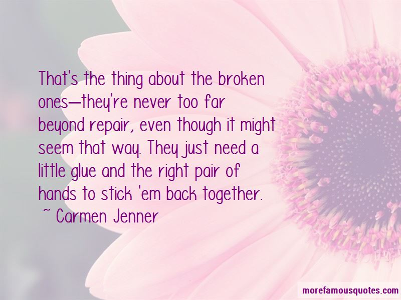 Never Too Far Quotes
