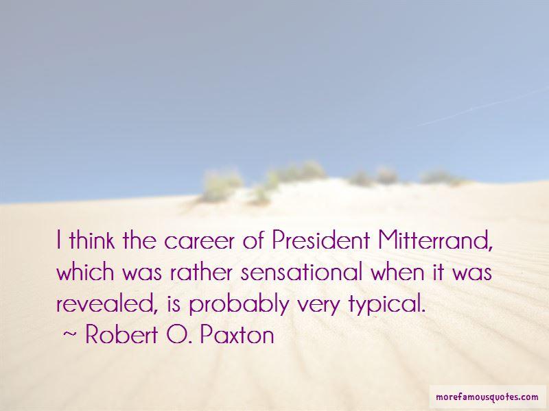 President Mitterrand Quotes