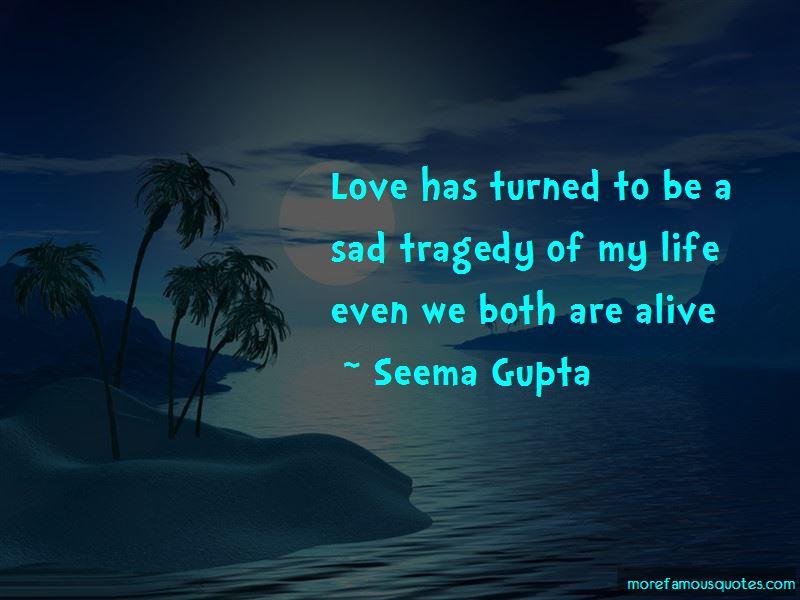 Sad Love Tragedy Quotes