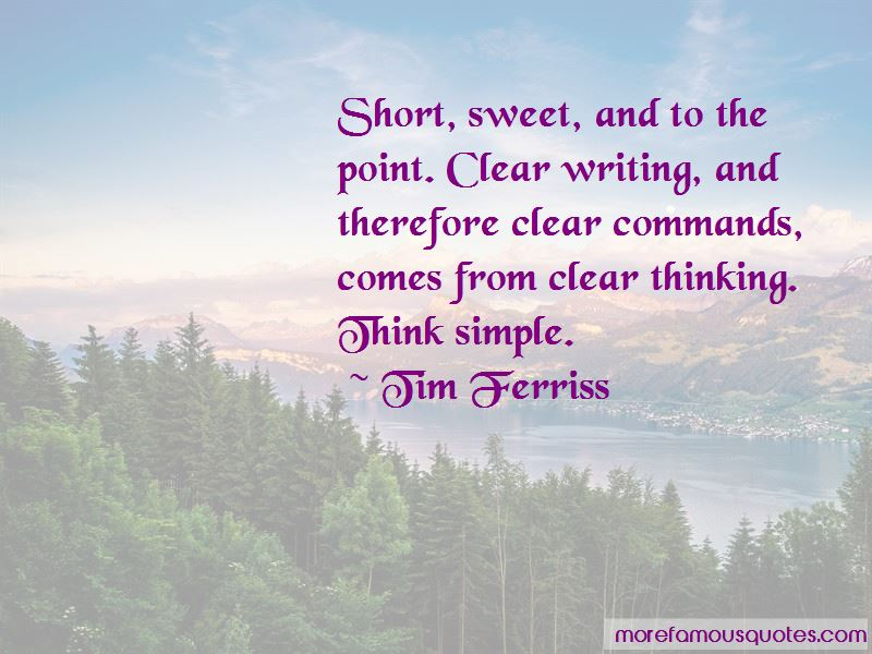 Short Sweet Quotes