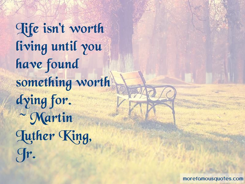 Something Worth Dying For Quotes