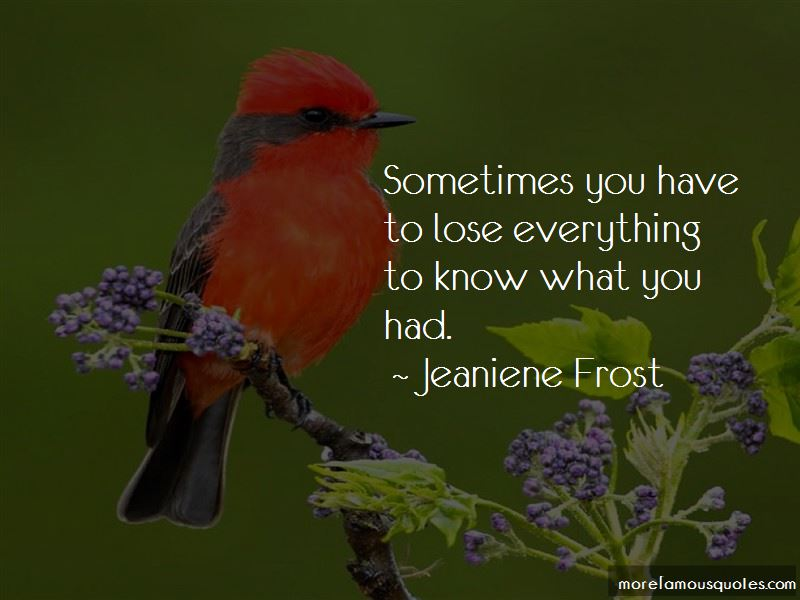 Sometimes You Have To Lose Everything Quotes
