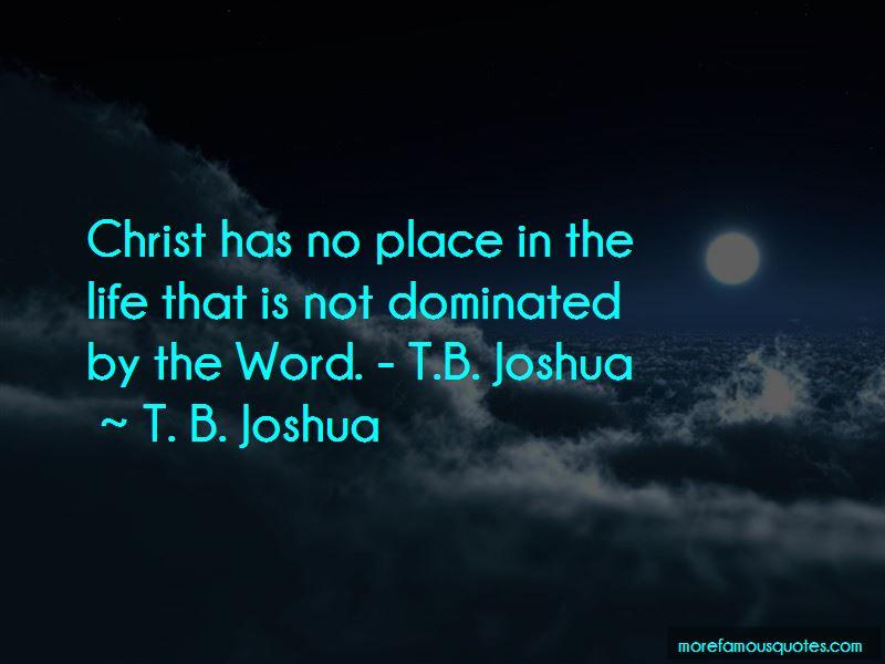 Tb Joshua Quotes