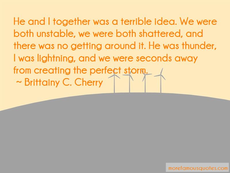 Thunder And Lightning Storm Quotes