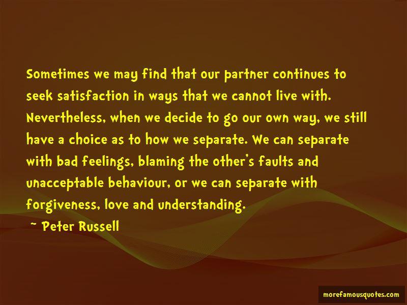 Unacceptable Behaviour Quotes