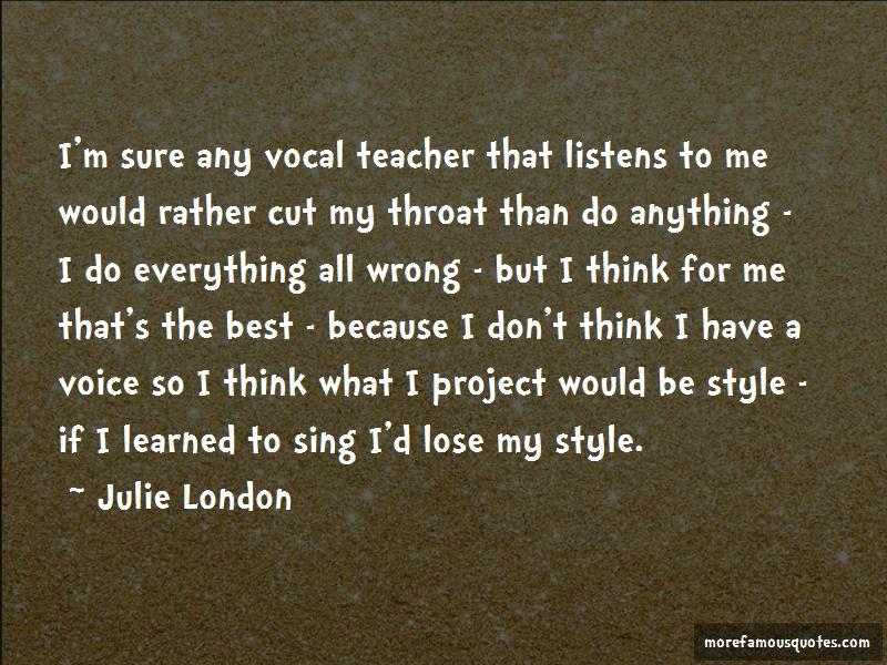 Vocal Teacher Quotes Pictures 2