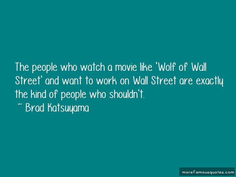 Wolf On The Wall Street Quotes